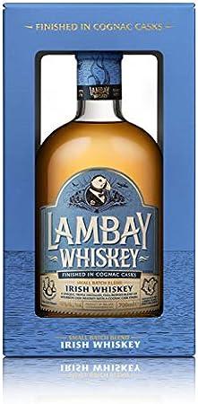 Lambay Irish Whiskey - Small Batch Blend Whisky 70 cl Trenzado - Concedido - Triple Destilado - Oferta de San Patricio Saint Patrick