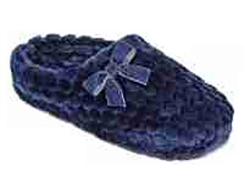 Liz Claiborne Honeycomb Plush Memory Foam Clog Slippers, Blue Depths, Medium