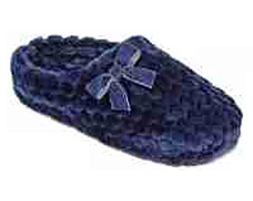 Liz Claiborne Honeycomb Plush Memory Foam Clog Slippers, Blue Depths, - Claiborne Liz Shoes