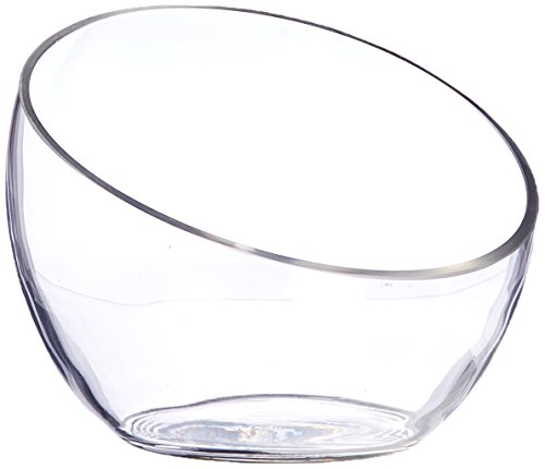 - WGV Clear Slant Cut Bowl Glass Vase/Glass Terrarium/Candy Jar, 6