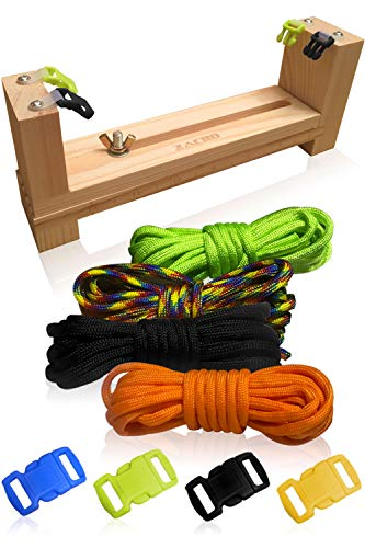 3 Bees & Me Complete Paracord Bracelet Making Kit - DIY Friendship Bracelet Maker with Jig]()