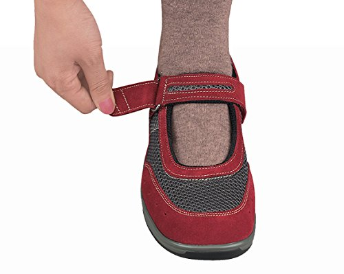 Orthofeet Chattanooga Para Mujer Comfort Orthotic Ortopédica Para Diabéticos Mary Jane Zapatos Red