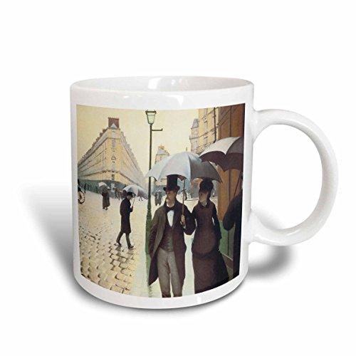 (3dRose Paris/The Place De Leurope on a Rainy Day by Gustave Caillebotte Ceramic Mug, 15-Ounce)