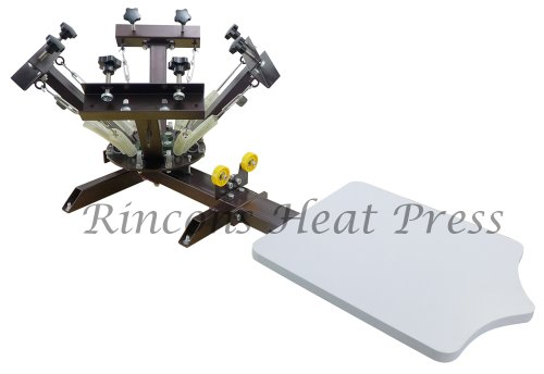 Rincons 4 Color 1 Station Silk Screen Printing Press by Rincons Heat Press