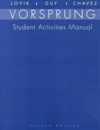 SAM for Lovik's Vorsprung: A Communicative Introduction to German Language and Culture