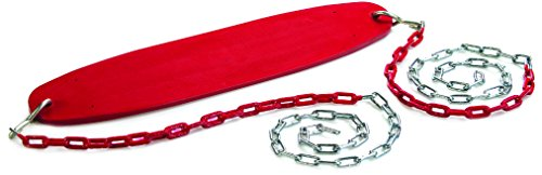 CREATIVE CEDAR DESIGNS Ultimate Swing Seat with Chains- Red, One Size