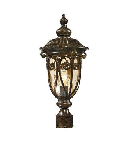 Outdoor Post Light 1 Light with Hazelnut Bronze Finish Medium Base 21 inch 100 Watts - World of Lamp