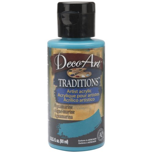 Deco Art 3-Ounce Traditions Acrylic Paint, Aquamarine