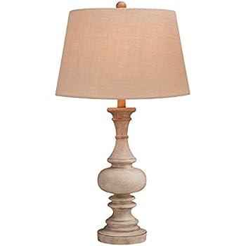 Elize Whitewash Candlestick Lamp Set Of 2 Amazon Com