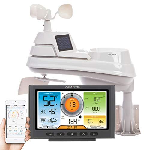 AcuRite 01540M 5-in-1 Weather Station with Wi-Fi Connection to Weather Underground (Best Home Weather Station Wifi)