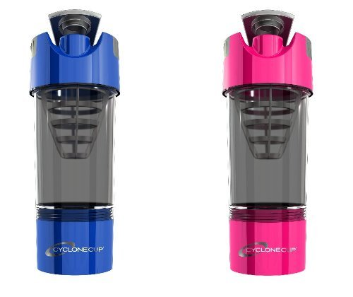 Cyclone Cup Shaker Bottle 20oz - Set of 2 - Blue and Pink
