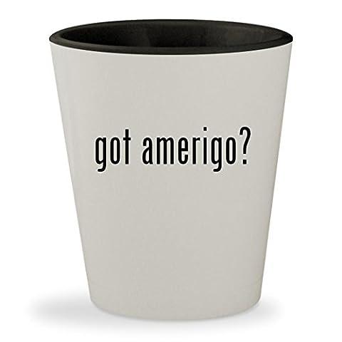 got amerigo? - White Outer & Black Inner Ceramic 1.5oz Shot Glass (Accutron Board)