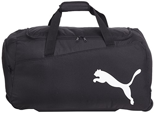 PUMA Sporttasche Pro Training Medium Wheel Bag, black/white, 61 x 6.3 x 31 cm, 54 liter, 072935 01