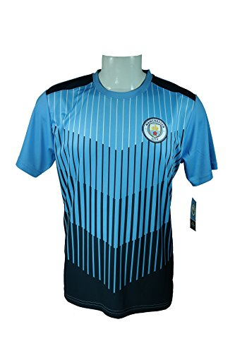 (Manchester City F.C. Soccer Official Adult Soccer Training Performance Poly Jersey Rhinox-J013 X-Large)