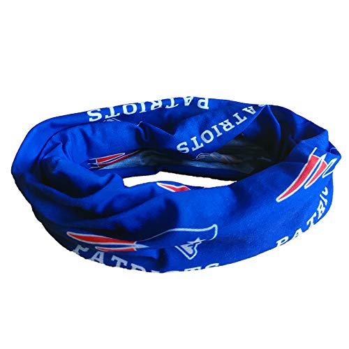 (Gloral HIF New England Patriots Magic Headband Sports Headwear Elastic Face Mask Bandana Scarf UV Resistence Head Wrap - Cycling, Fishing, Running, Hiking, Camping)