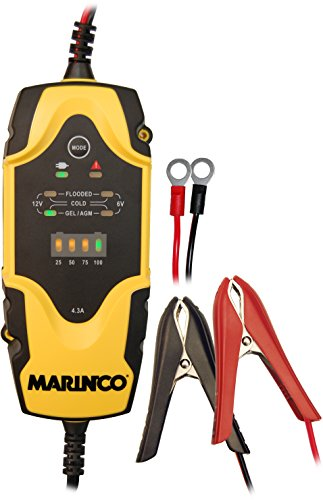 Marinco ChargePro 4.3A 6V/12V Portable Battery Charger Maintainer (Battery Marinco)