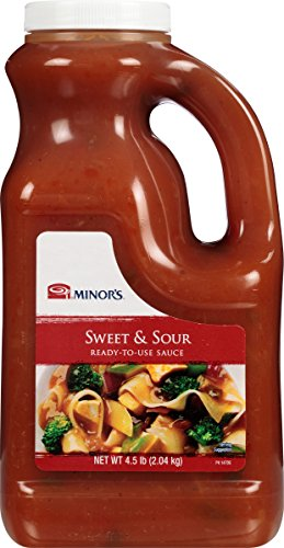 Minor's Sweet and Sour Sauce, Authentic Bold Asian Flavor with Pineapple, Ready to Use, 4.5 lb Bottle