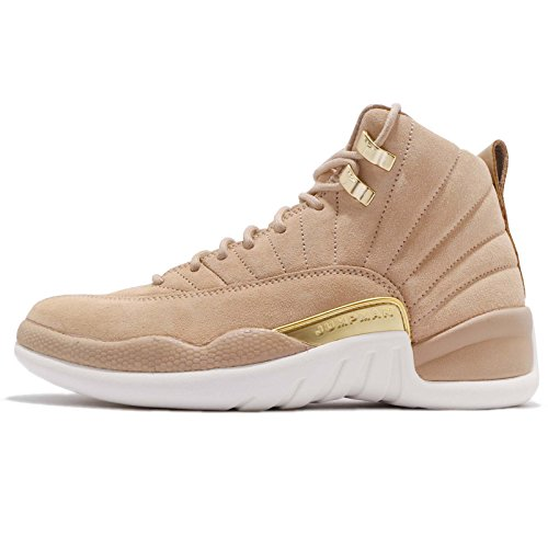 Jordan Retro 12'' Vachetta Tan Vachetta Tan/Metallic Gold (Womens) (8 B(M) US) by Jordan