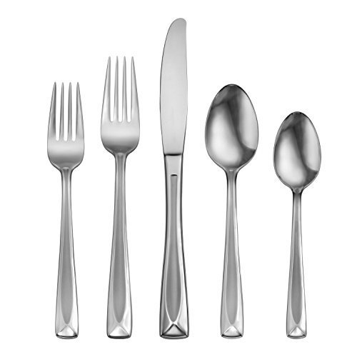 Oneida Satin Lincoln 45-Piece Flatware Set, Service for (Glossy Salad Fork)