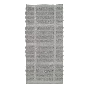 All-Clad Textiles 100-Percent Cotton Solid Kitchen Towel, Titanium