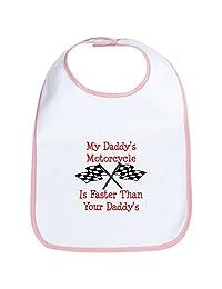 CafePress - Daddys Motorcycle Is Fast Bib - Cute Cloth Baby Bib, Toddler Bib