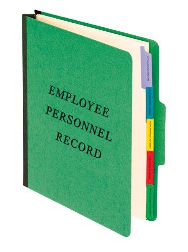- Pendaflex Employee/Personnel Folders, 1/3 Cut, Top Tab, Letter Size, Green, Pack of 10 (SER-1-GR)