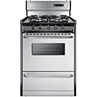 Summit TTM63027BKSW Kitchen Cooking Range, Stainless Steel