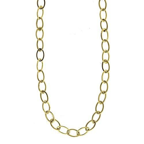 barato y de moda 14 ct oro amarillo Oval soporte de de de enlaces de alta polaco cierre de pinza de langosta collar – 19.75)  almacén al por mayor