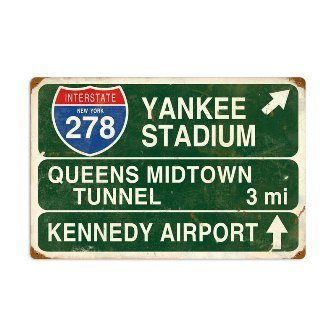 Vintage-Retro Yankee Stadium Metal-Tin Sign