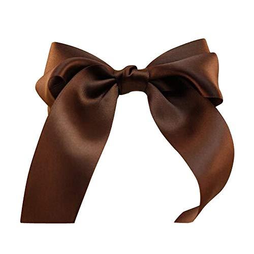 Womens Bow Hair Cs Barrette Ponytail Holder Brown V8W3 ()