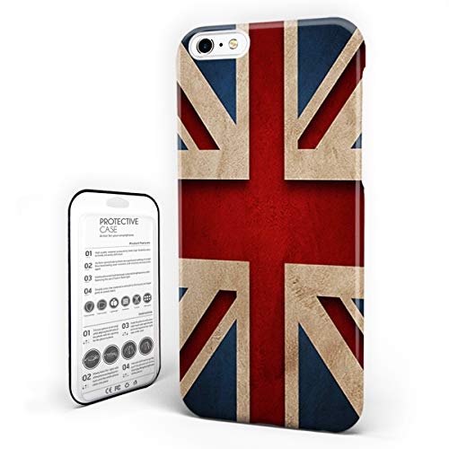 iPhone 6 Case/iPhone 6s Case England Britain Design Hard Plastic PC Ultra Thin Protective Phone Case Cover Compatible iPhone 6/6s (4.7 inch) British Flag Patriot English Queen Grunge Style -