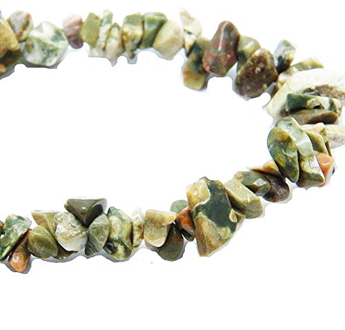 Fundamental Rockhound Products: Rainforest Jasper/Rhyolite Gemstone Chip Bracelet Stretch Storage -