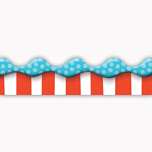(Eureka Dr.Seuss 'Cat in The Hat' Bulletin Board Trim and Classroom Decoration for Teachers, 12pc, 3.25'' W x 37'')