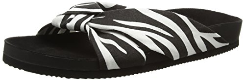 Cheap Monday Women's Blasé Knot Open Back Slippers Multicolour (Zebra) fPJHzDS