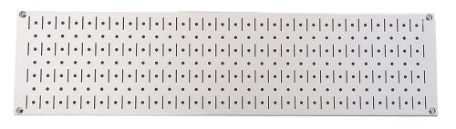 - Wall Control Narrow Pegboard Rack 8in x 32in White Metal Pegboard Runner Tool Board