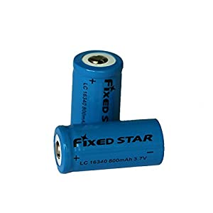 Fixed Star 8 Pcs 800Mah 16340 3.7V Rechargeable Lithium ion Battery, Rechargeable Replacement CR123A Batteries