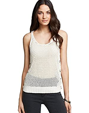 Guess Women's Mesh Stitch Relaxed Tank