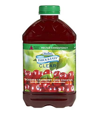 Thick & Easy Clear Thickened Cranberry Juice Cocktail, Nectar Consistency, 46 Ounce