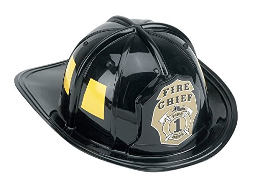 Aeromax Jr. Firefighter Helmet, Black, Adjustable Youth Size - Fireman Costumes For Child