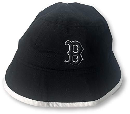 New Era Boston Red Sox Floppy Sun Bucket Hats (X-Large, Red Sox Black)
