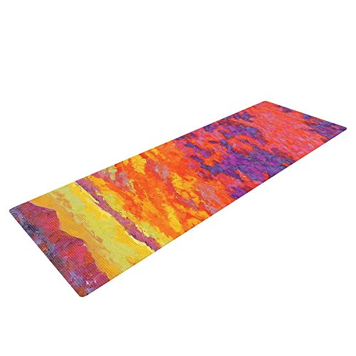 Kess InHouse Jeff Ferst View from The Foothills Exercise Yoga Mat, Orange Purple, 72
