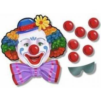 Beistle 66669 Circus Clown Game, 17-Inch by (Pin The Nose On The Clown)