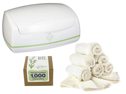 Prince Lionheart Warmies Wipes Warmer with Reusable Wipes & Wipes Solution