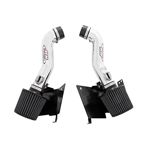 AEM 07 350z Polished Dual Inlet Cold Air Intakes w/ Heat Sheilds (21-677p)