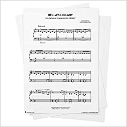 Bella S Lullaby Sheet Music From Twilight Movie Easy Piano From Musicnotes Twilight Movie Carter Burwell Books