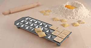 Eppicotispai 24 Holes Aluminum Square Ravioli Maker with Rolling Pin