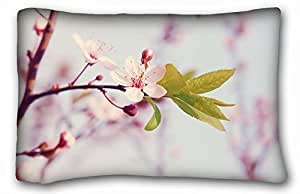 Custom Nature Custom Cotton & Polyester Soft Rectangle Pillow Case Cover 20x30 inches (One Side) suitable for X-Long Twin-bed