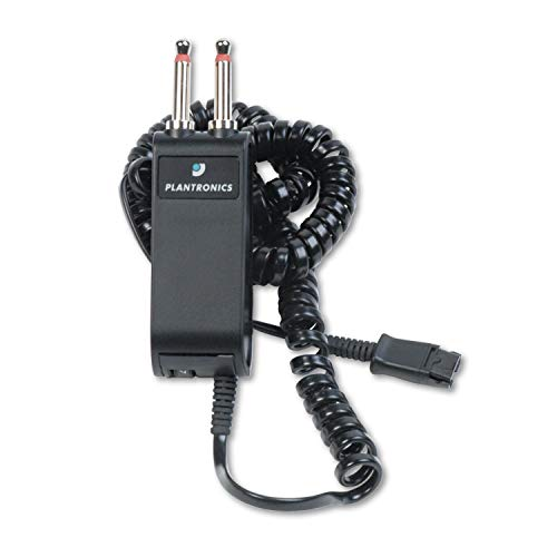Plantronics P10 Modular Dual-Prong Plug Headset/Handset-to-Telephone Adapter (Renewed)