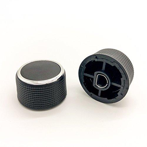 Kerman 2 PC Rear Radio Audio Volume Control Knob Dial Tuner