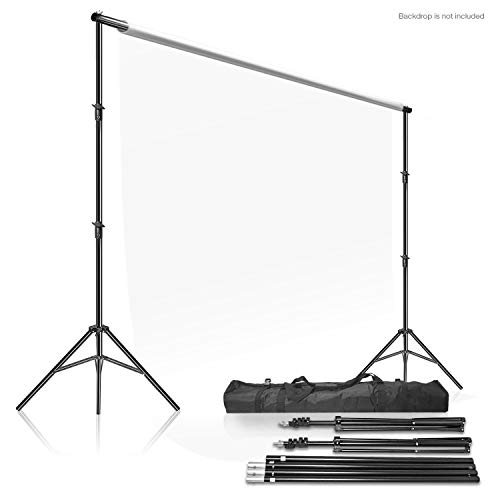 (LimoStudio Photo Video Studio 10Ft Adjustable Muslin Background Backdrop Support System Stand, AGG2862)